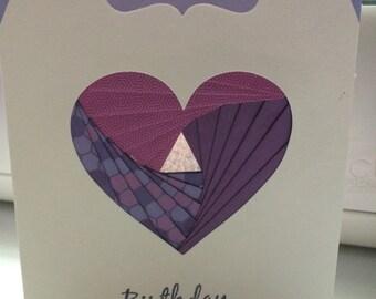 Iris Folded Birthday Card for Mother