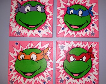 Pink Ninja Turtle Canvas
