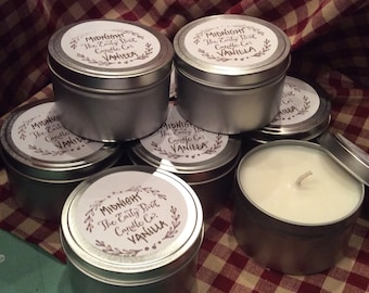 Midnight Vanilla Soy Wax Container Candle