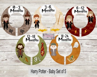 Wizard Kids Harry Potter Baby Clothing Closet Dividers - Assembled