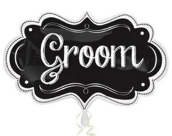 Groom Chalkboard Balloon Bachelorette Hen's Party Wedding Decoration Helium Foil Bridal