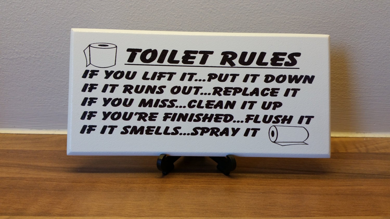Toilet Sign Plaque Toilet Rules If You Lift It UpPut It