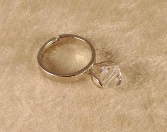Clear Crystal Swarovski Crystal Ring