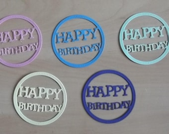 5 cuts happy birthday for your scrapbooking creations.