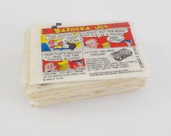 Lot of 60 Vintage Bazooka Joe Comics • Bubble Gum Comic Wrappers