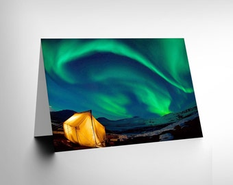 Northern Lights Card / Birthday / Greetings / Gift / Blank Card - CL1121