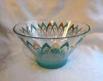 Vintage Blendo large glass bowl