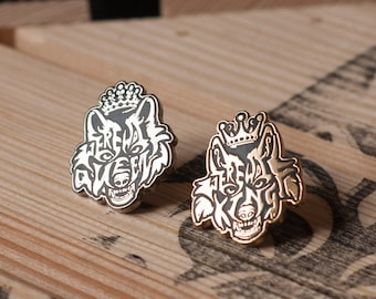 Werewolf King & Queen Enamel Pin
