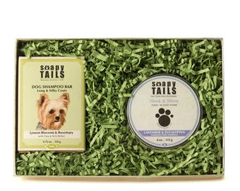 Soapy Tails Shampoo Bar & Coat Tamer Gift Set
