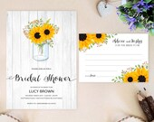 Rustic sunflower bridal s...
