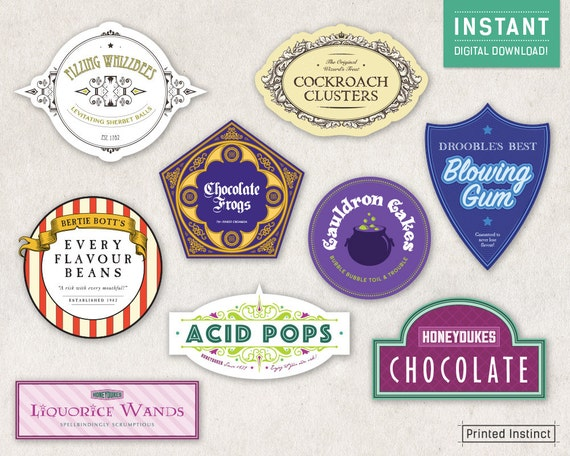 Hilaire image within printable candy labels