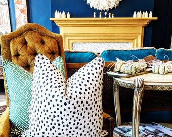 Kate Spade Dalmatian print pillow cover // Lacefield Dalmatian // decorative pillows // pillow covers // spotted pillow cover