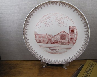 Vintage Church Plate - Onley Methodist Church - Onley, Virginia