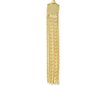 14/20 Yellow Gold-Filled Flat Tassel Component