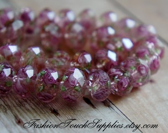 View Invoice     Copy  Glass Beads, Bead, Supplies, Czech glass Dusty Rose Czech Glass Faceted Art Beads Rondelle oval 15
