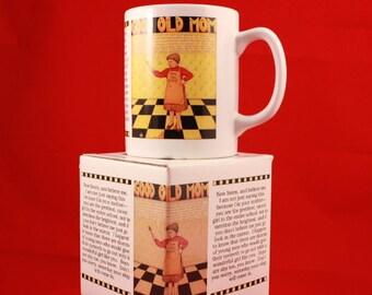 "New - Vintage 1992 Mary Engelbreit 4"" Tall 8 oz Mug (includes original box). Good Old Mom"