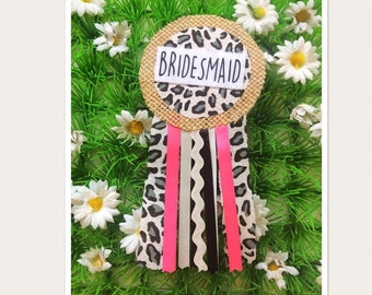 Bridesmaid Hen Party Rosette Badge