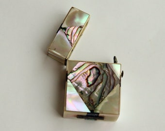 Abalone and Mother of Pearl Vesta Match Safe from the 1920's