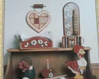 "1986 Decorative Folk Art painting "" Down Home Hospitality"" by June Hodges  used book 18 pages"
