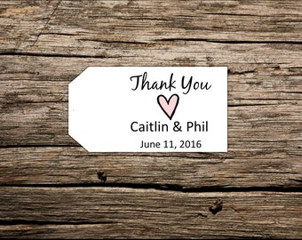 Custom Wedding Favor Tags, Personalized Favor Tags