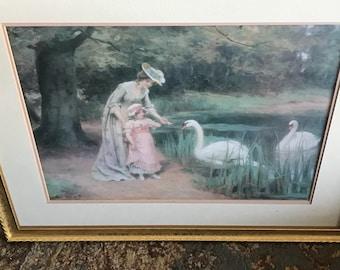 Vintage Victorian Framed Print