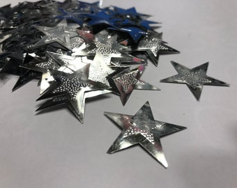 15 LARGE star confetti / sequins, 31 mm (37)