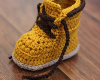 Tiny Timber Gender Neutral Baby Booties, Crib Shoes, Adjustable Baby Slippers, Baby Timbers, Baby Shower Gift