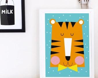 Nursery decor, nursery wall art, Kids poster, nursery poster, poster kids, kids room poster, kids decor, kids wall art, tiger