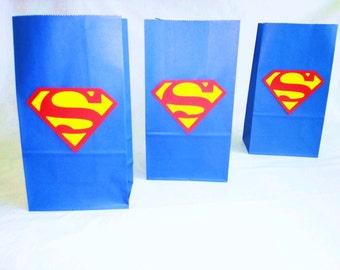 SALE! Superman  Party Bags  Birthday bags, Goodie bag Superhero theme Set of 10