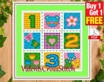 Baby Cross Stitch Pattern, home decor, counted cross stitch pattern, Baby, for baby,  #sp 70