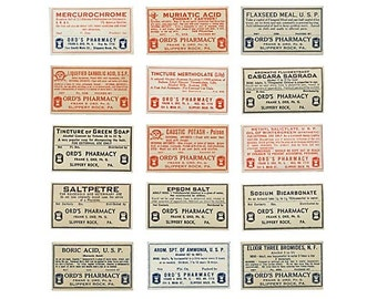 Ords Pharmacy label Collection - Pennsylvania