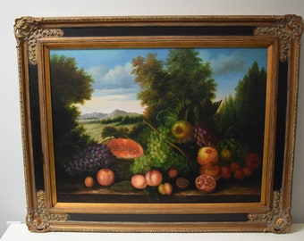Fruit Oil Painting X-Large With Gold Frame