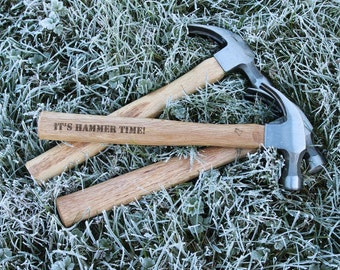 Quality Personalised Hammer (& Gift Tag) - Dad Gift, Birthday Present, Engraved Hammer, Men, Husband, Boyfriend, granddad, Woodworking Tools