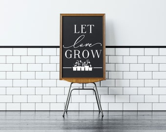 Let Love Grow Favor Vinyl, Wedding Decor, Wedding Sign, Wedding Decal, DIY Wedding