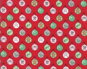 Sugar Plum Christmas Shiny Brites Candy Red fabric by Bunny Hill Designs for Moda Fabric #2910 11