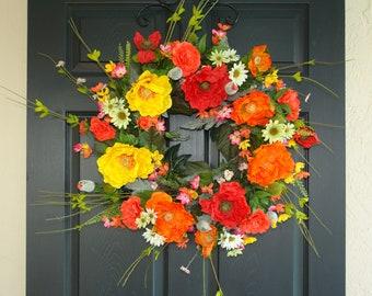 wreath spring wreaths for front door wreaths outdoor wreath country decorations welcome rustic wedding front door wreaths