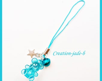Jewelry for Portable bear blue - phone Strap