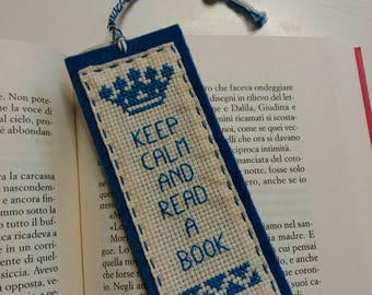 Embroidered Cross stitch bookmarks sewn on felt