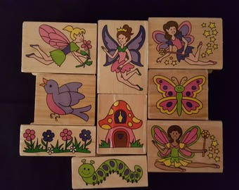 Fairy Stamps by Melissa & Dave - Set of 9 - Used