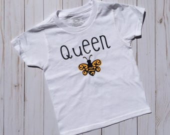Queen bee tshirt, onesie, baby girl, queen in charge