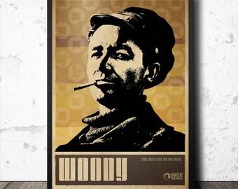 Woody Guthrie Folk Music Art Poster