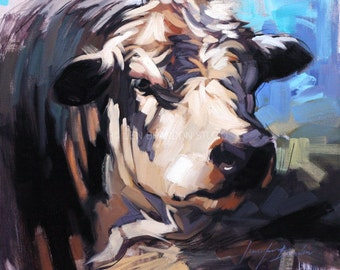 That's Alotta Bull Oil Painting