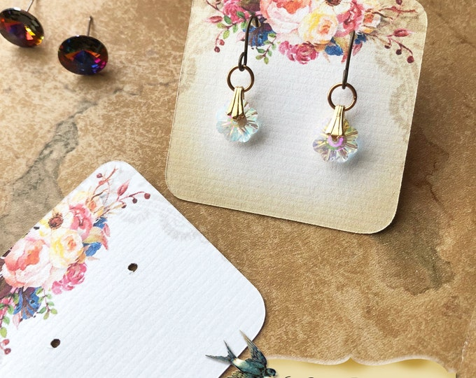 60•LE JARDIN•Necklace Card•Earring Cards•Jewelry Cards•Display Card•Display•Earring Holder•Necklace Holder•2x2 or 3x3