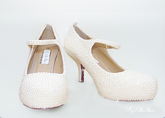 Bridal Wedding Christening Mother the Prom Shoes of Graduation Sweet Pearl Wedding Bridesmaid 16 Guest ~ Mary Party ~ Jane Bride S8xXRqYH