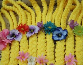 Disney Rapunzel Inspired Yarn Hair Braid -Tangled Hair Yarn Braid