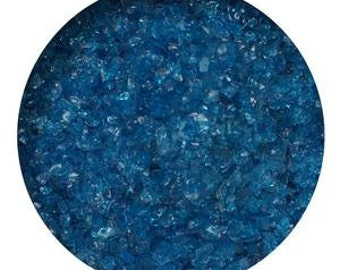 8.5 Oz Deep Aqua Transparent Medium Glass Frit- 96 COE