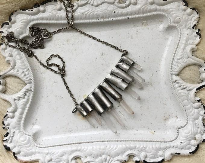 Quartz Point Icicle necklace