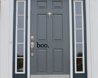Boo - halloween front door vinyl decal