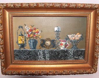 8281: Vintage Karen Kinzer Artist Signed Dated 1969 Oil Painting Framed Beautiful Fine Art at Vintageway Furniture