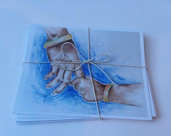 """5 pack Greeting Cards, Notecard, Card,  5.5""""x4.25"""""""